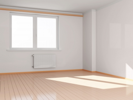 room door: Modern Empty Room Interior Stock Photo