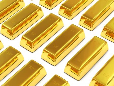 futures: Golden Bars on white background