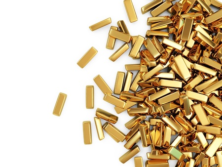 gold bars: Golden Bars on white background with place for your text Stock Photo