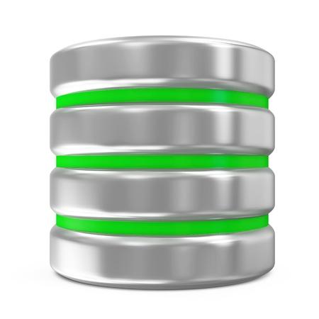 data base: Computer Database Icon isolated on white background