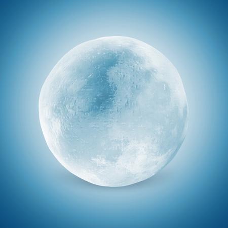liquid crystal: Ice Sphere on blue background Stock Photo