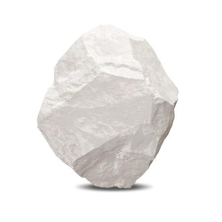 3d Iceberg on white background