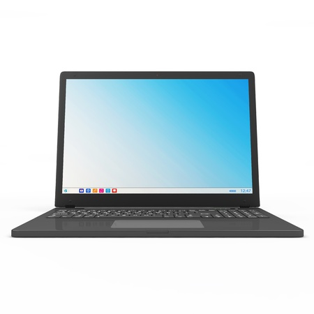 Modern Laptop isolated on white background Stock Photo - 23397438
