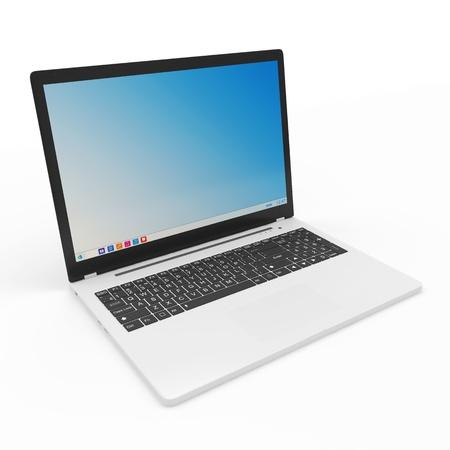 Modern Laptop isolated on white background Stock Photo - 23397439
