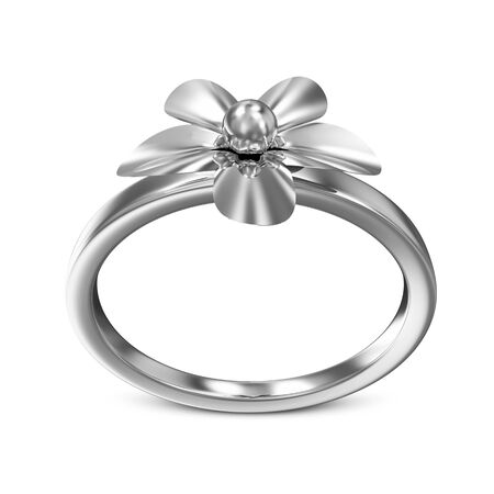 platinum: Creative Platinum Ring isolated on white background