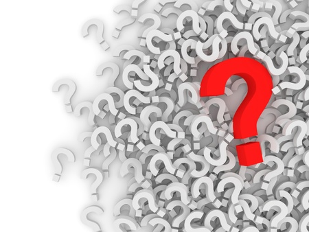 why: Question Marks on white background with place for your text Stock Photo