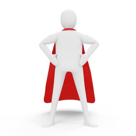 superman: 3d Man Superhero isolated on white background
