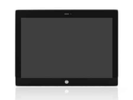 Tablet PC isolated on white background photo
