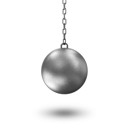 ball and chain: Wrecking Ball isolated on white background