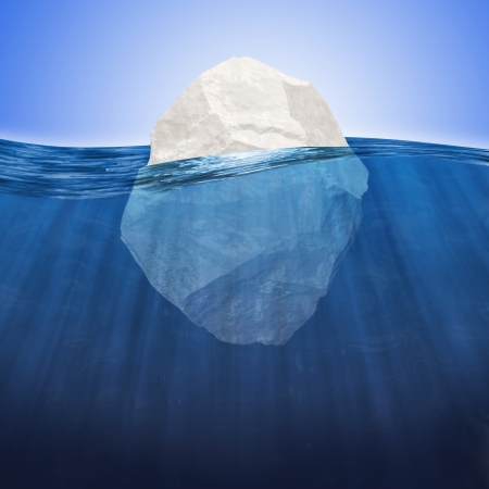 Abstract Illustration of Iceberg under water illustration