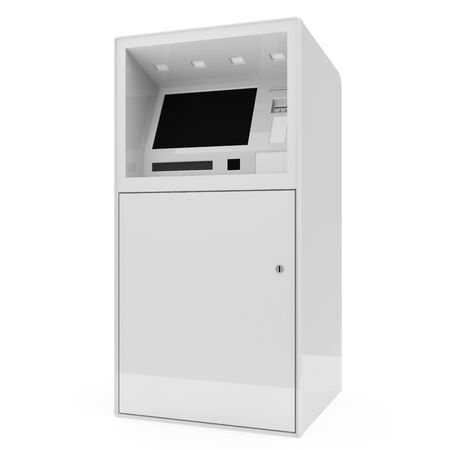cashpoint: ATM Machine isolated on white background