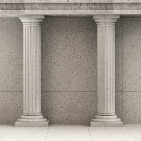 pillar: Classic Ancient Interior with Columns Stock Photo