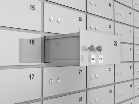 safe deposit box: Opened Deposit Bank Safe Abstract Background Stock Photo