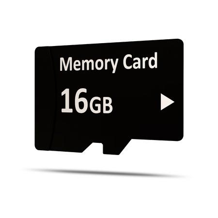gigabyte: Mobile Memory Card on white background