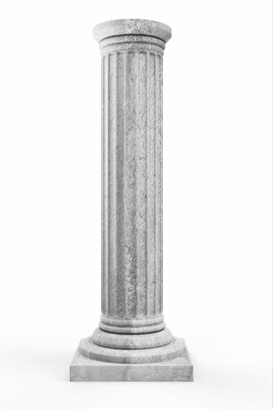 Classic Ancient Column isolated on white background photo