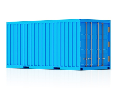 merchandize: Cargo Container isolated on white background
