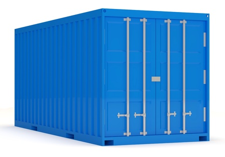 Cargo Container isolated on white background photo
