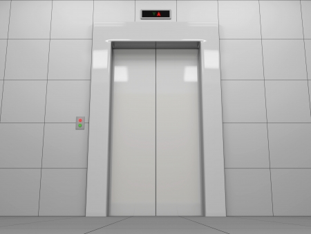Elevator with Closed Doors photo