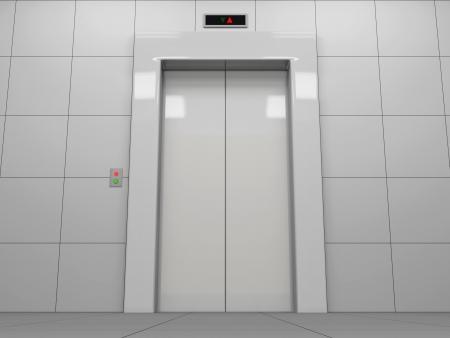 Elevator with Closed Doors photo