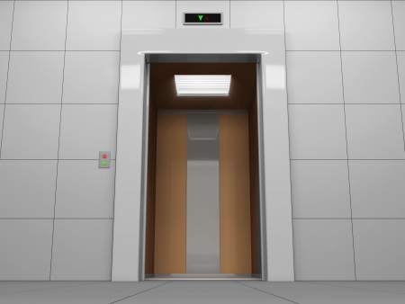 Elevator with Open Doors Stock Photo - 20273151