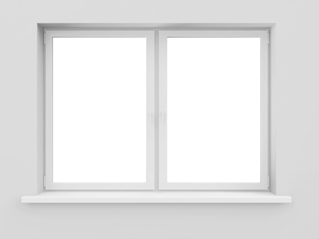Window isolated on white background Imagens