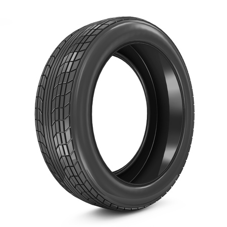 Car Tire isolated on white background photo