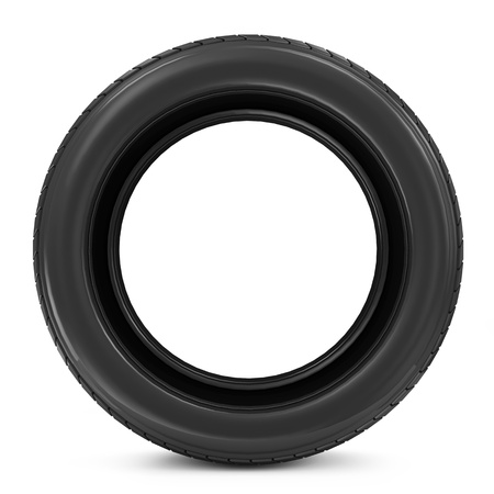 retreading: Car Tire isolated on white background