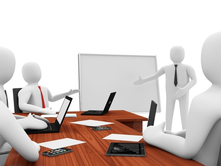 3d Men on a Business Presentation photo