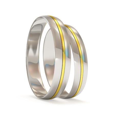platinum: Platinum Wedding Rings with a golden insert
