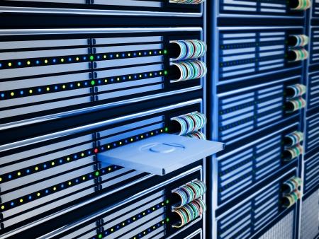 현대 컴퓨터 서버 추상적 인 배경