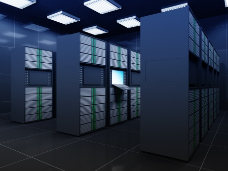 Modern Server Room Interior photo
