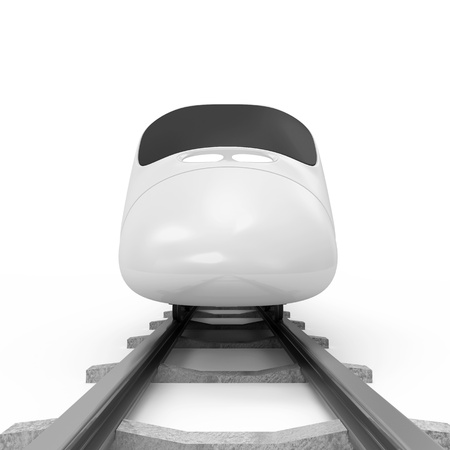 high speed railway: 3d Illustration of Modern High-Speed Train isolated on white background