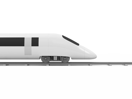 high speed: 3d Illustration of Modern High-Speed Train isolated on white background
