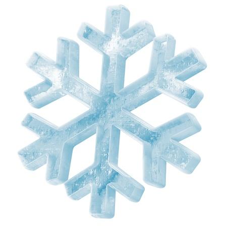 Icy Snowflake Icon isolated on white background Stock Photo - 20217190