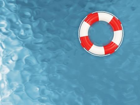 Rode Lifebelt op het Water