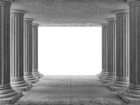 3d temple: Classic Ancient Building Interior with place for Your text