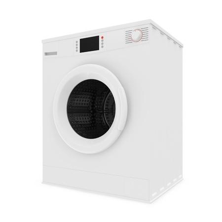 Waschmaschine auf weißem Hintergrund Standard-Bild