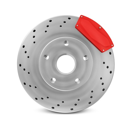 Brake Disc isolated on white background photo
