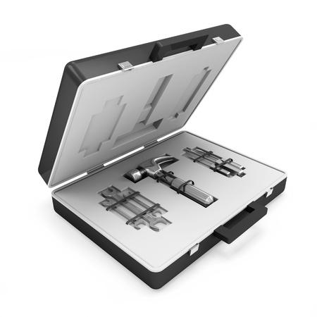 Tool Kit isolated on white background photo