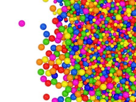 sphere standing: Many colored balls abstract background with place for your text