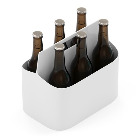 Packaging of Beer isolated on white background photo