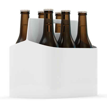 bottle of beer: Packaging of Beer isolated on white background
