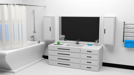 Modern bathroom interior Stock Photo - 20690650