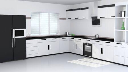 Küche Herd: Moderne Küche Interieur