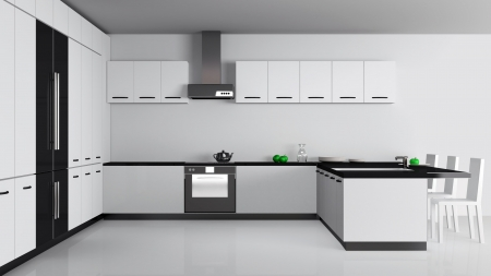 Modern Kitchen Inter  Stock Photo - 20690355