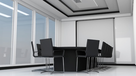 commercially: Modern meeting room interior