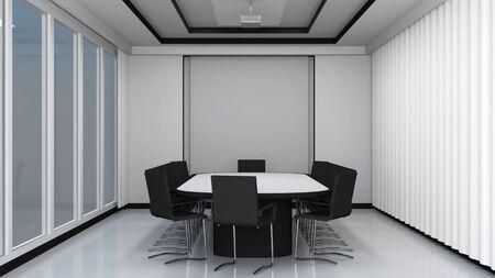 boardroom meeting: Modern meeting room interior