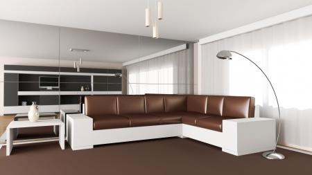 Modern interior of living room Stock Photo - 20690752
