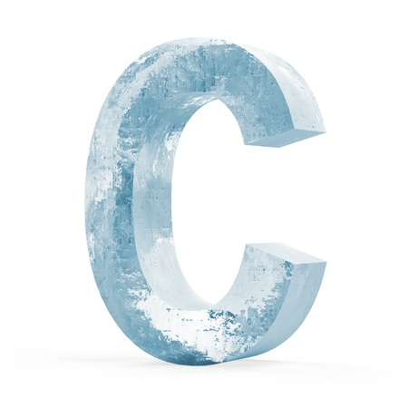 refrigeration: Icy Letters isolated on white background  Letter C