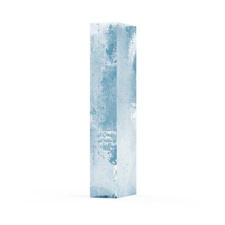 Icy Letters isolated on white background Letter I Imagens